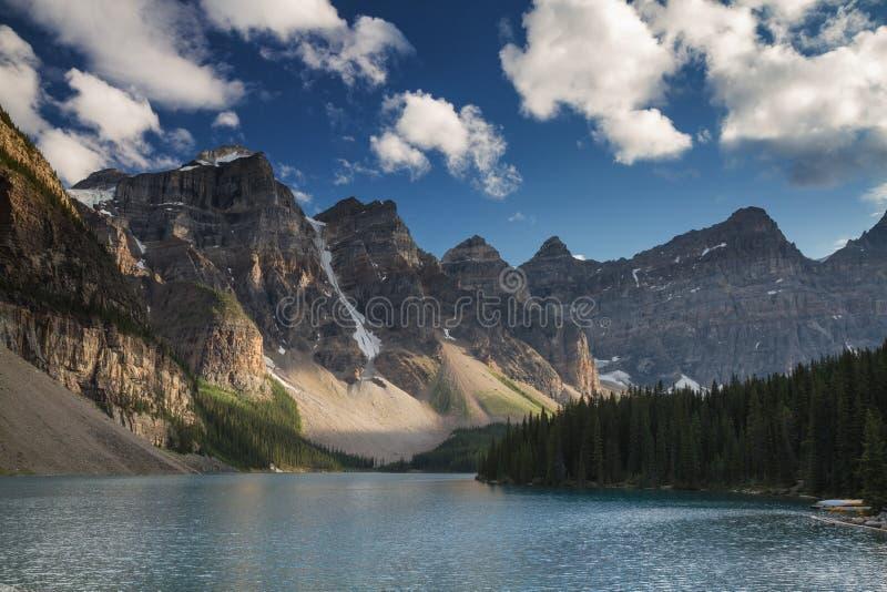 美丽的湖冰碛 库存照片