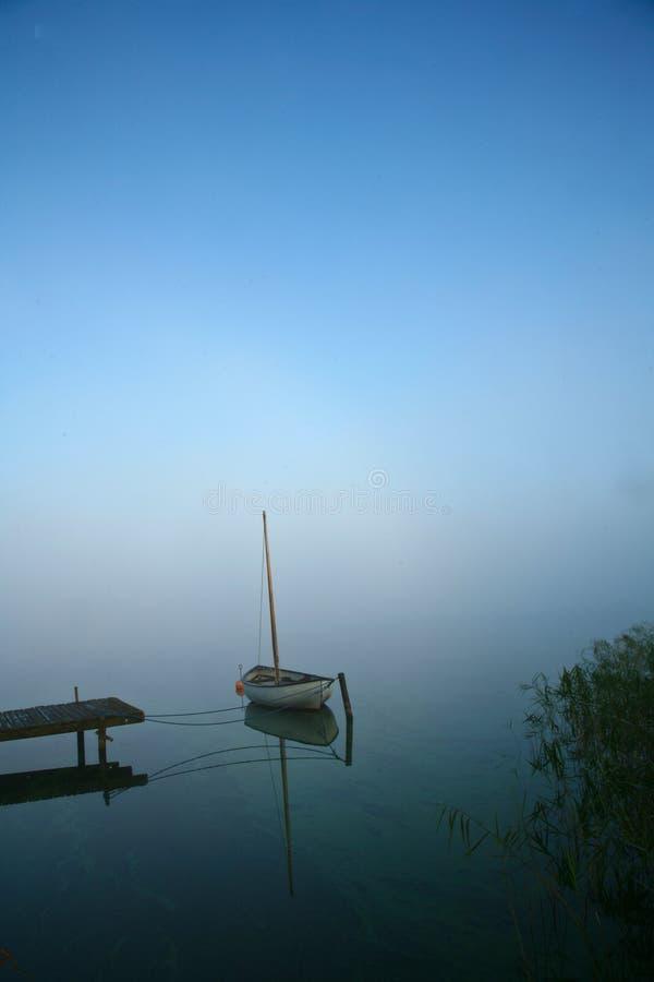 美丽的湖在丹麦 免版税库存照片