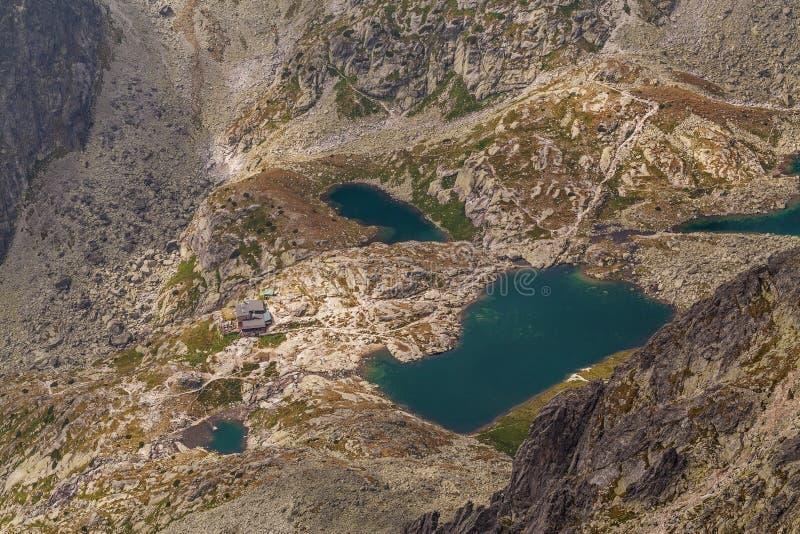 美丽的湖照片高Tatra山的,斯洛伐克,欧洲 图库摄影