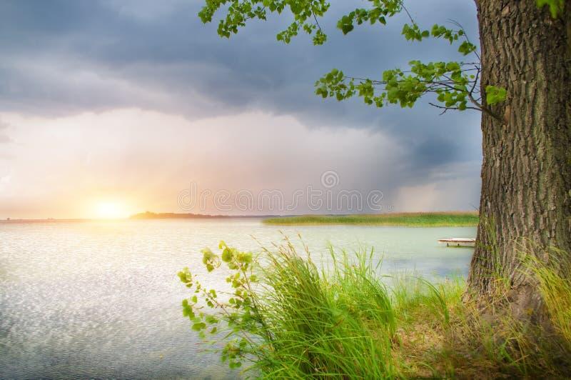 美丽的湖风暴 图库摄影