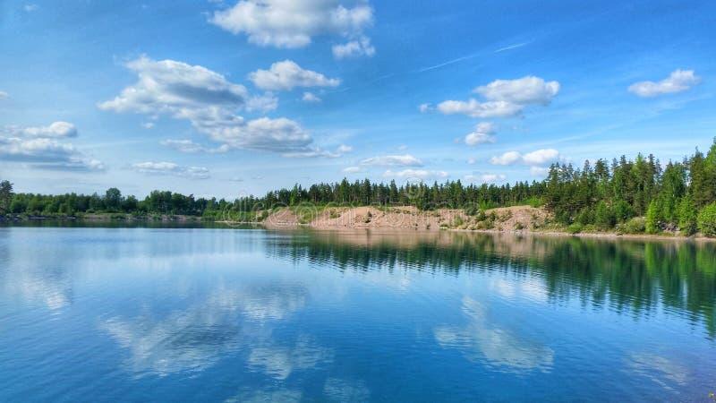 美丽的湖 免版税图库摄影