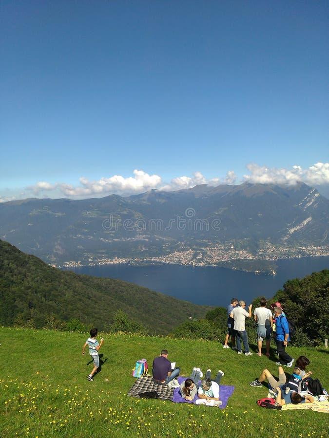 美丽的湖como意大利 免版税库存照片
