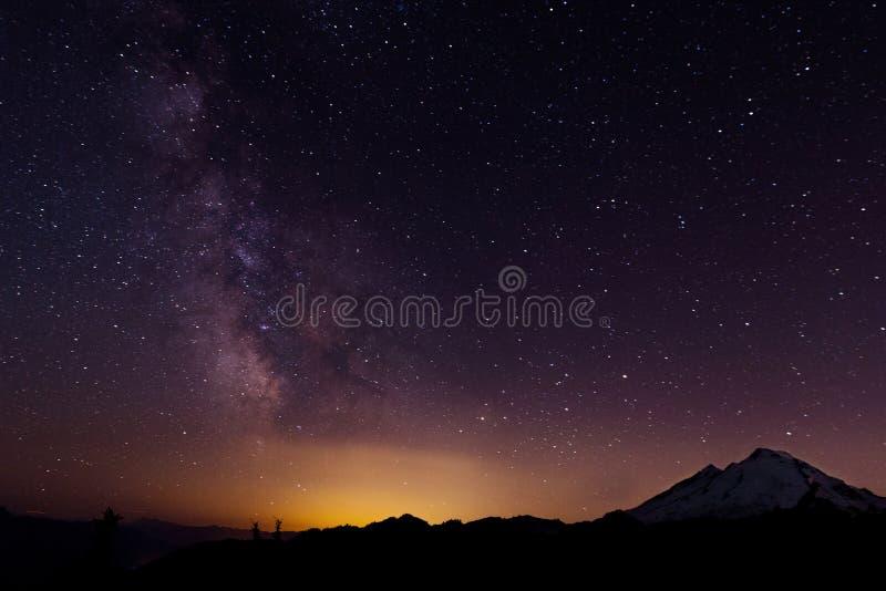 美丽的满天星斗的天空 库存图片