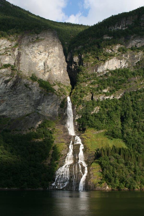 美丽的瀑布在挪威 免版税库存照片