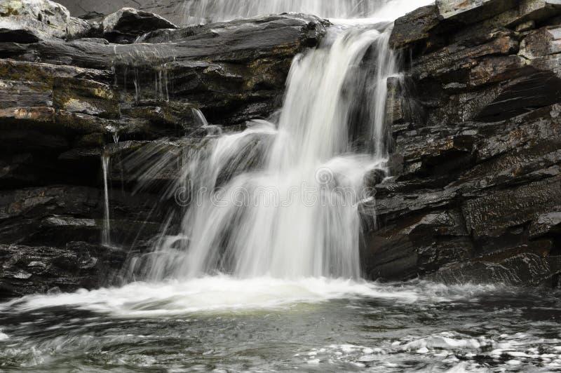 美丽的瀑布详细资料  免版税库存图片