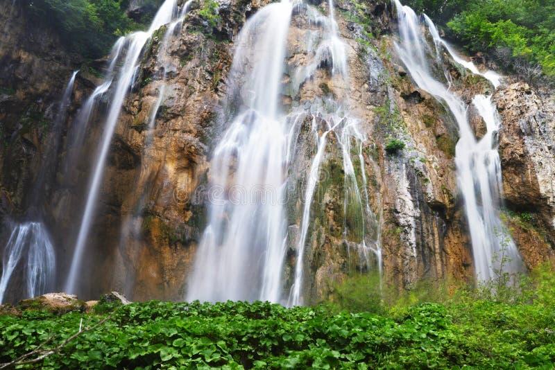 美丽的瀑布 图库摄影