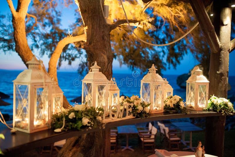 美丽的灯笼,从希腊的婚姻的装饰 库存图片