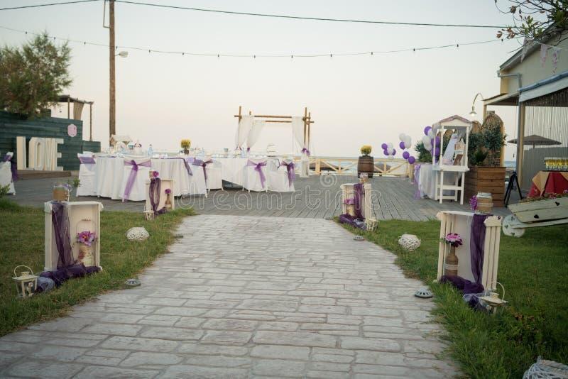 美丽的灯笼,婚姻的装饰 从希腊的惊人的婚礼股票摄影!从希腊的惊人的婚礼股票摄影! 免版税图库摄影