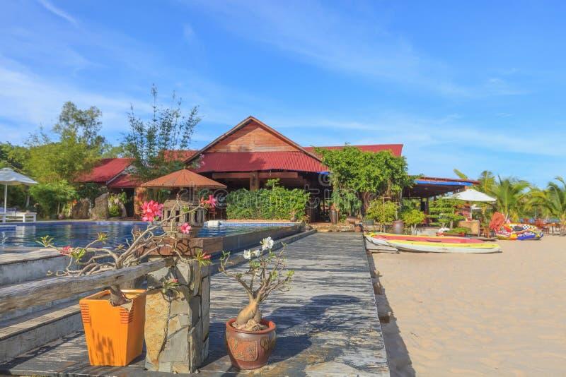 美丽的热带亚洲海滩 免版税库存照片