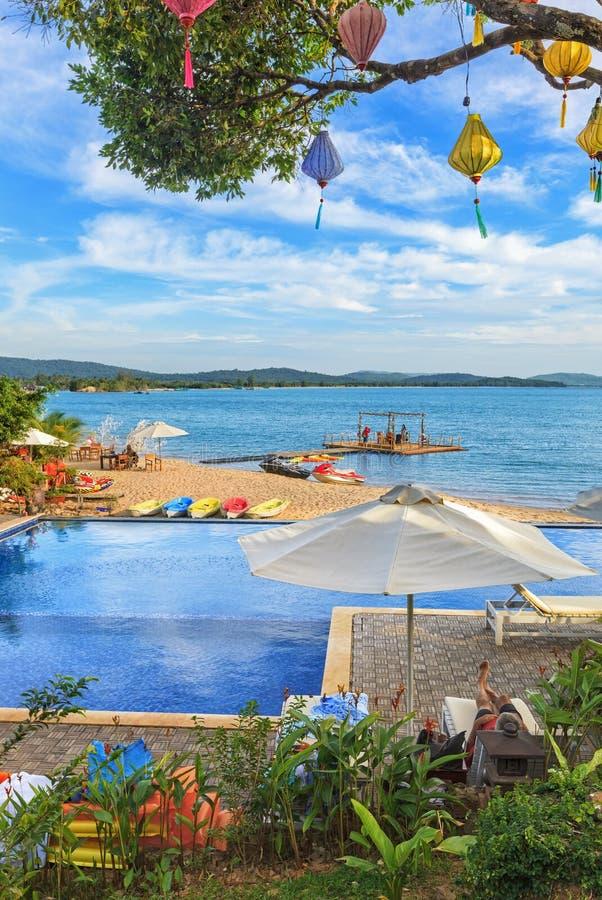 美丽的热带亚洲海滩 库存照片