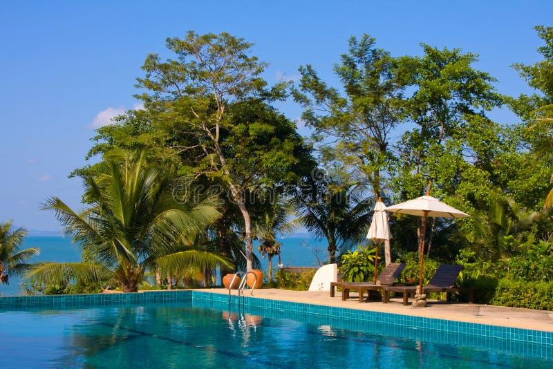 美丽的热带海滩,柬埔寨 免版税图库摄影