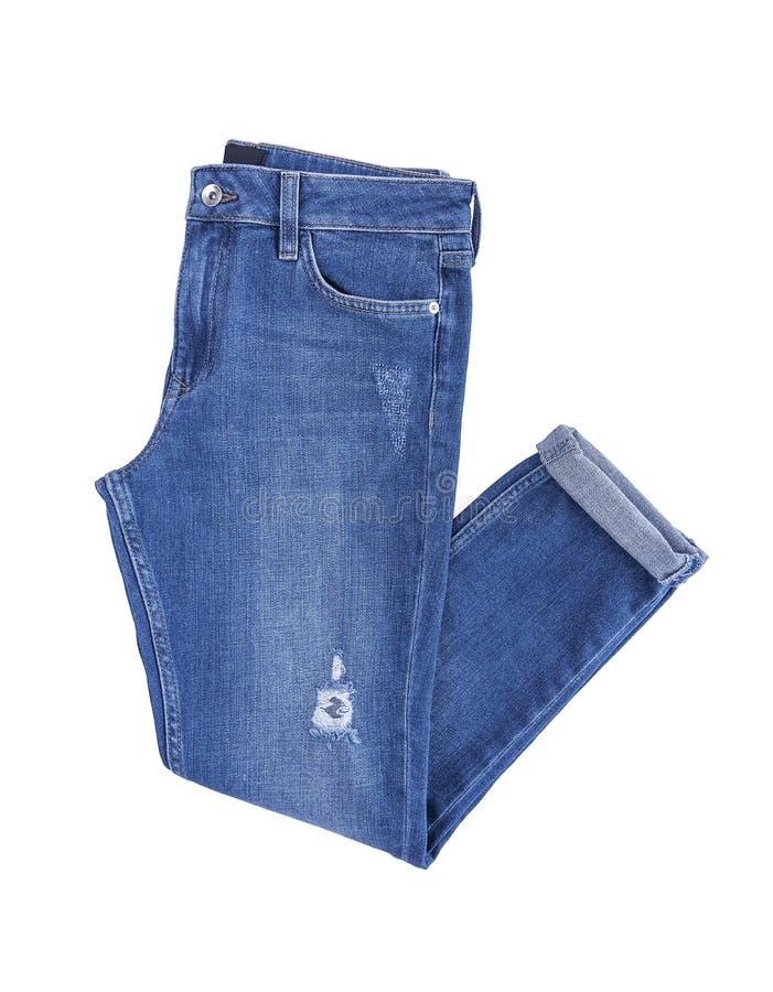 美丽的牛仔布裤子 免版税库存图片