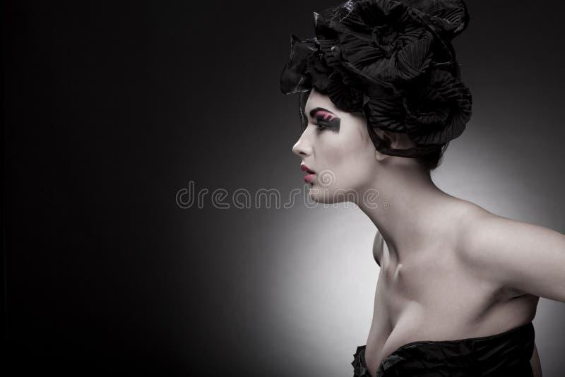 美丽的特写镜头纵向妇女年轻人 图库摄影
