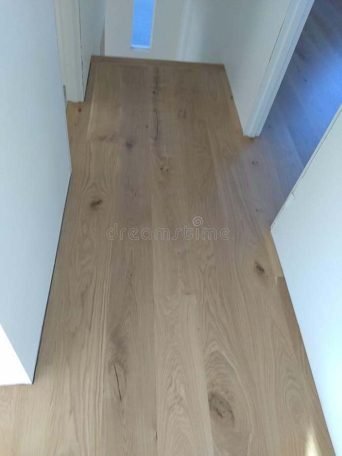 美丽的白栎木地板 免版税库存照片