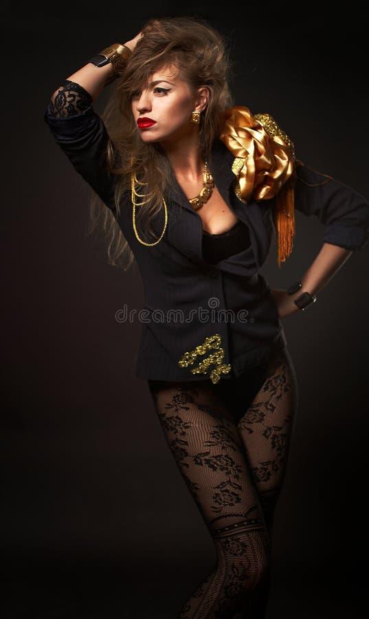 年轻美丽的白种人金发碧眼的女人 免版税图库摄影