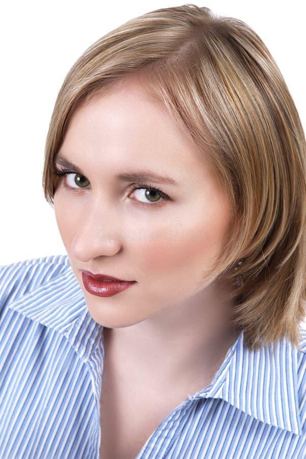 美丽的白肤金发的妇女 图库摄影