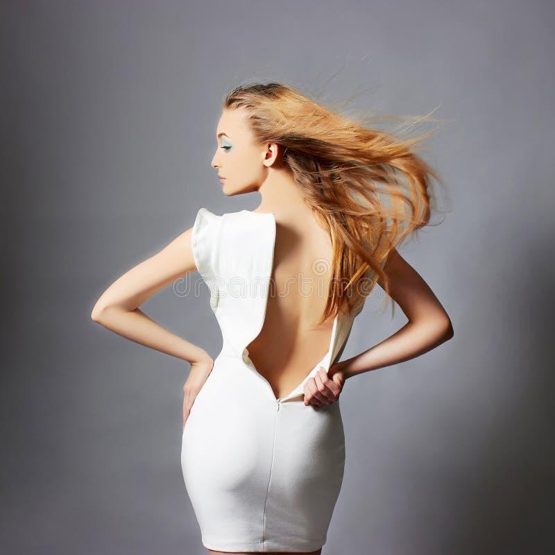 美丽的白肤金发的性感的妇女 图库摄影