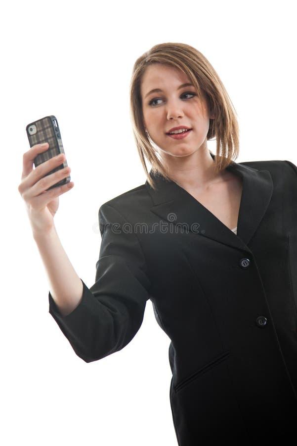 Download 美丽的白肤金发的白种人女商人 库存图片. 图片 包括有 销售额, 电话, attacher, 二十, 电池 - 30330433