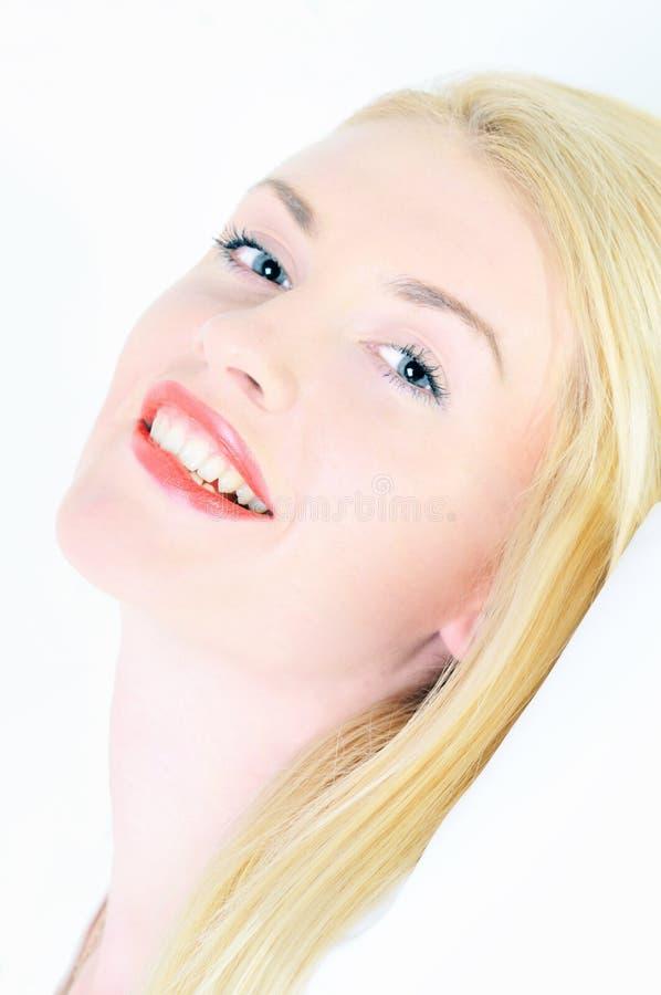 美丽的白肤金发的纵向妇女年轻人 库存图片
