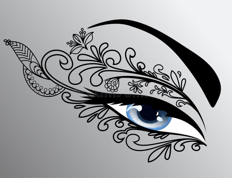 美丽的眼睛妇女 库存例证
