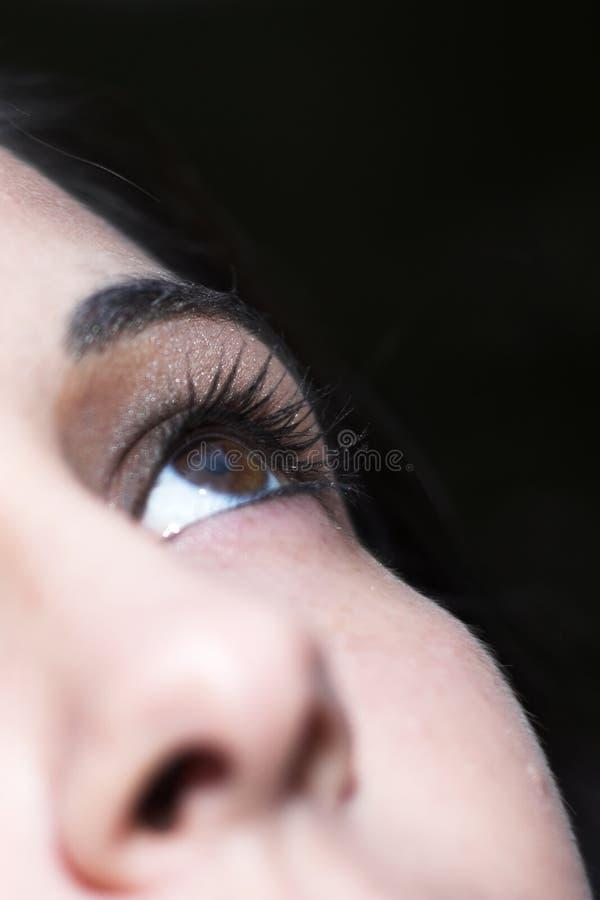 美丽的眼睛年轻人 库存照片
