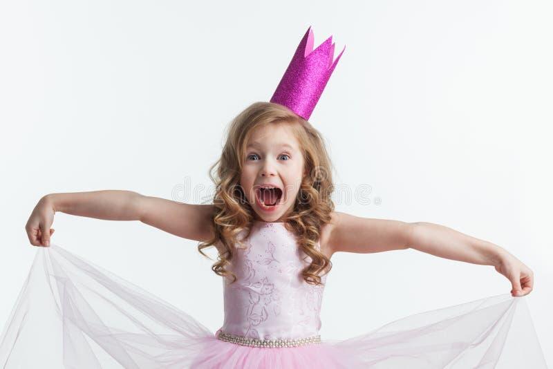 美丽的矮小的公主女孩 免版税库存图片