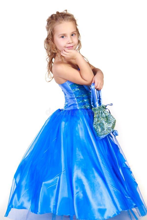 美丽的礼服夜间女孩 库存照片