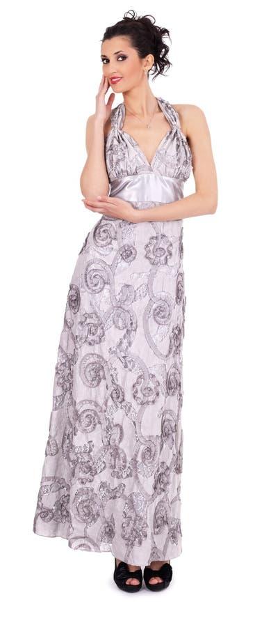 美丽的礼服时髦的女人 图库摄影