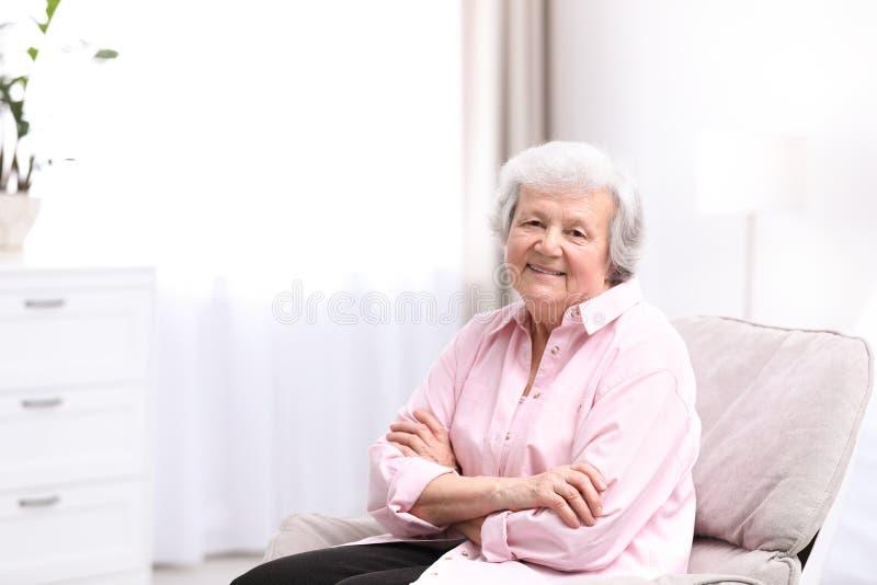 美丽的祖母画象  图库摄影
