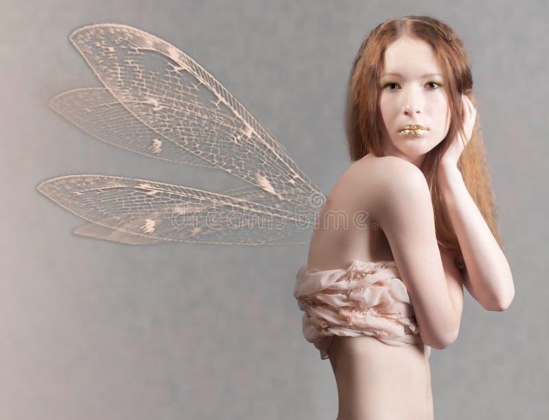 美丽的神仙的纵向妇女 免版税库存图片