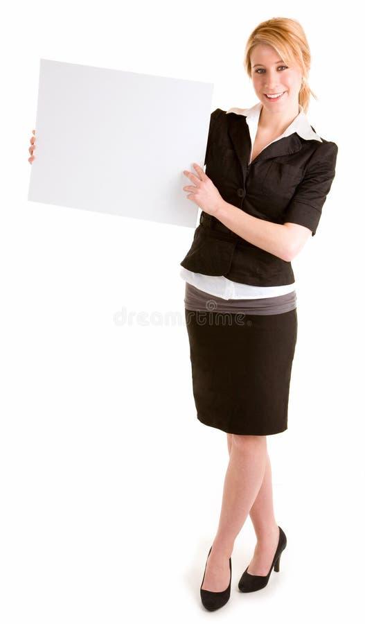 美丽的空白藏品符号白人妇女年轻人 免版税库存照片