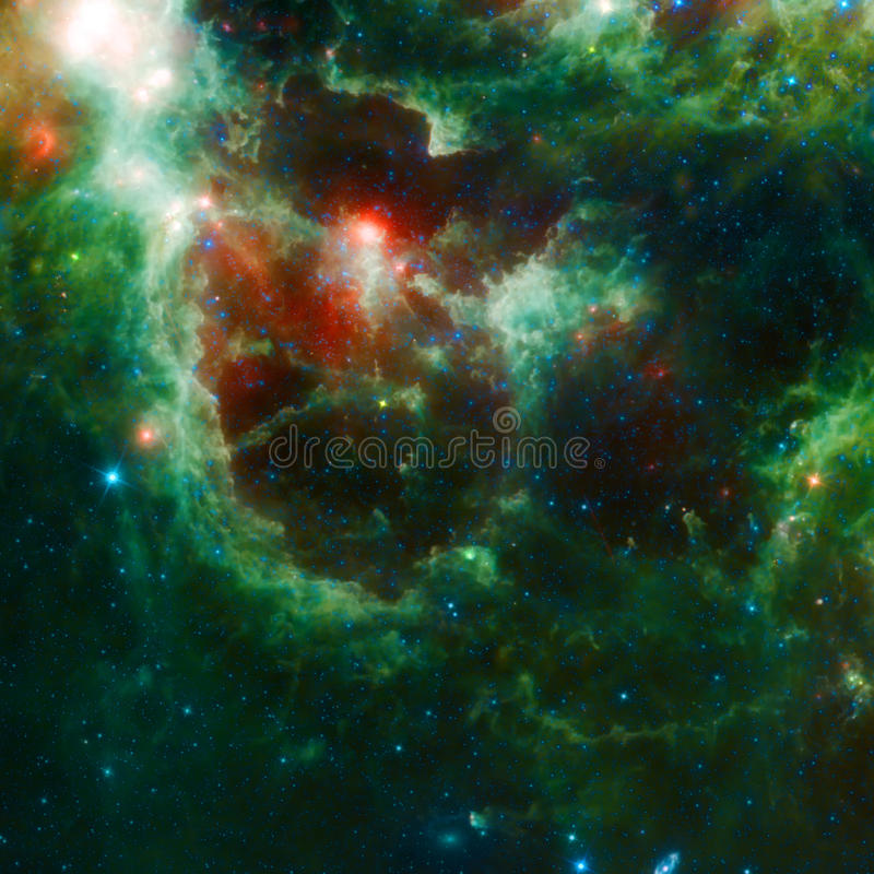 美丽的空间星云 免版税图库摄影