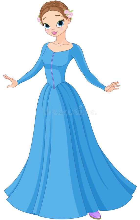 美丽的童话公主 皇族释放例证