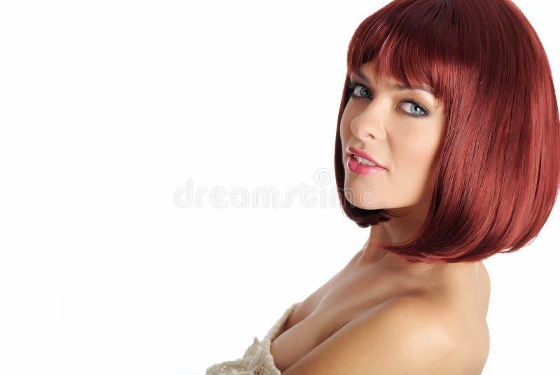 美丽的红头发人妇女 图库摄影