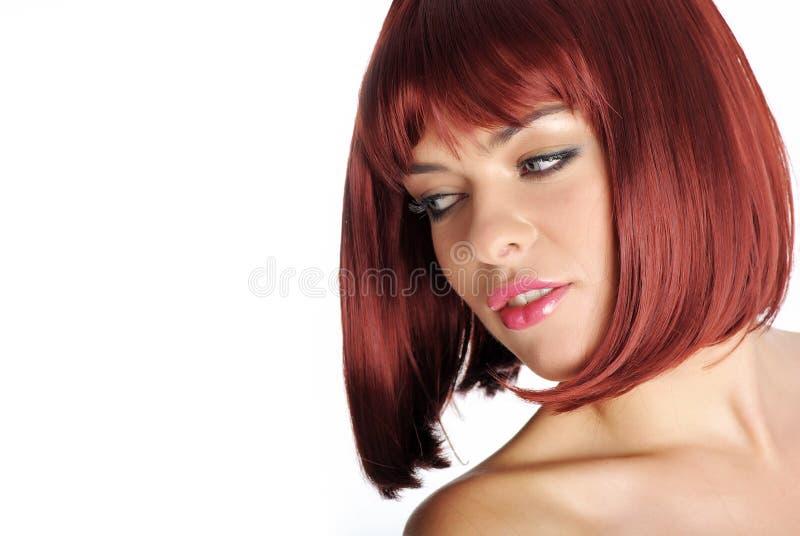 美丽的红头发人妇女 免版税库存照片