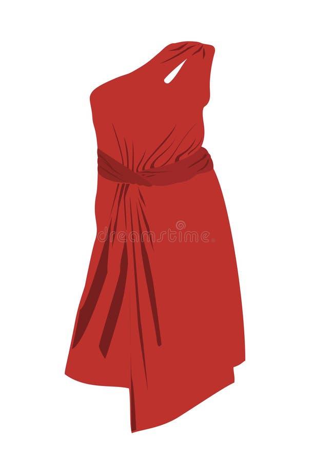 美丽的红色连衣裙 皇族释放例证