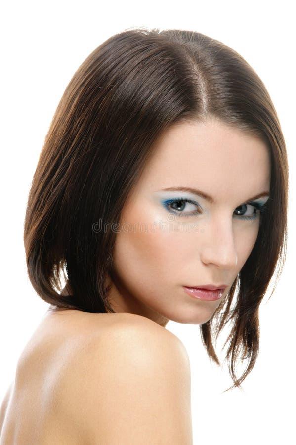 美丽的纵向妇女年轻人 库存照片