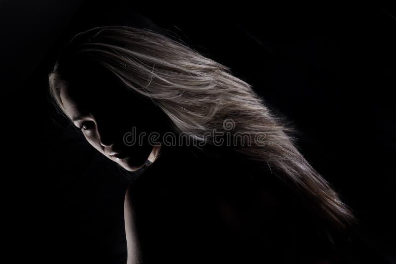 美丽的纵向妇女 库存图片