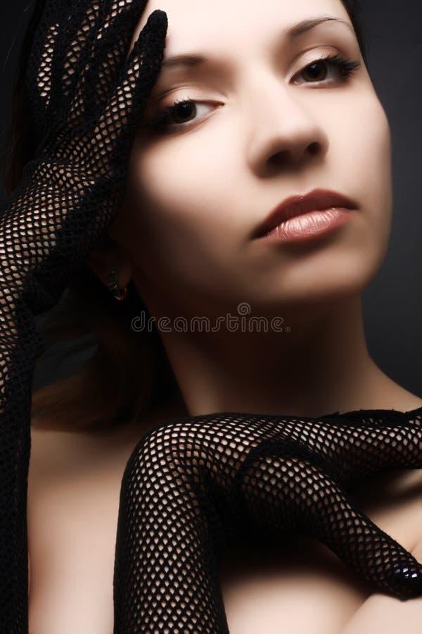 美丽的纵向妇女 库存照片