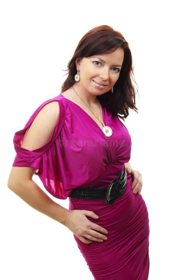 美丽的纵向性感的妇女年轻人 免版税库存图片
