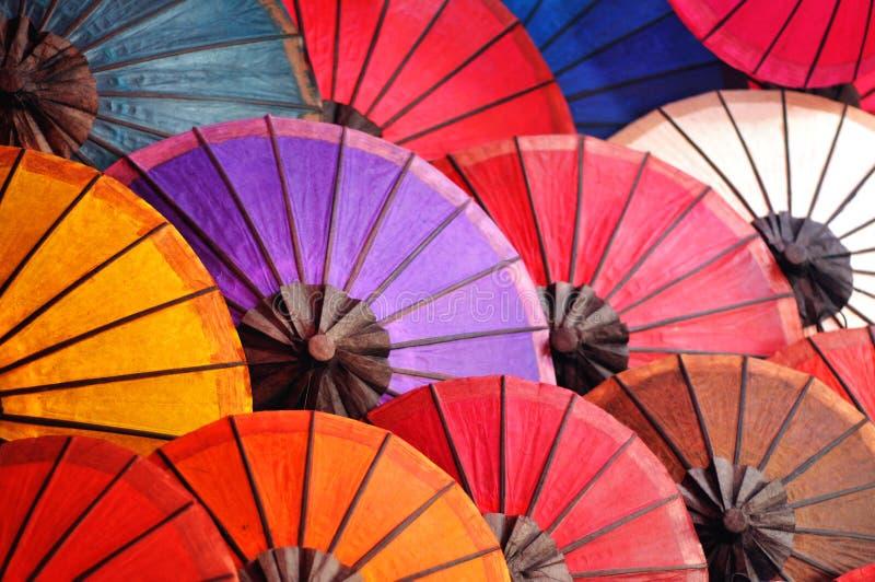 美丽的纸伞 免版税库存照片