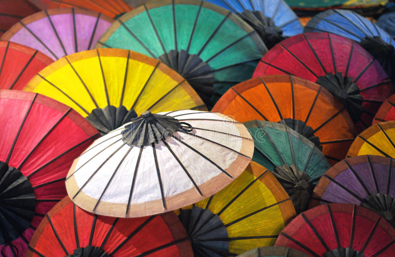 美丽的纸伞 库存照片