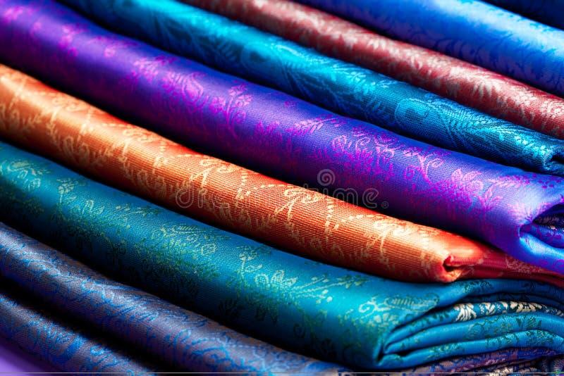 美丽的织品折叠了 免版税库存图片