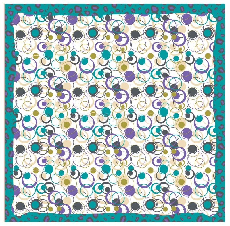 美丽的织品有五颜六色的ornamen样式背景 向量例证