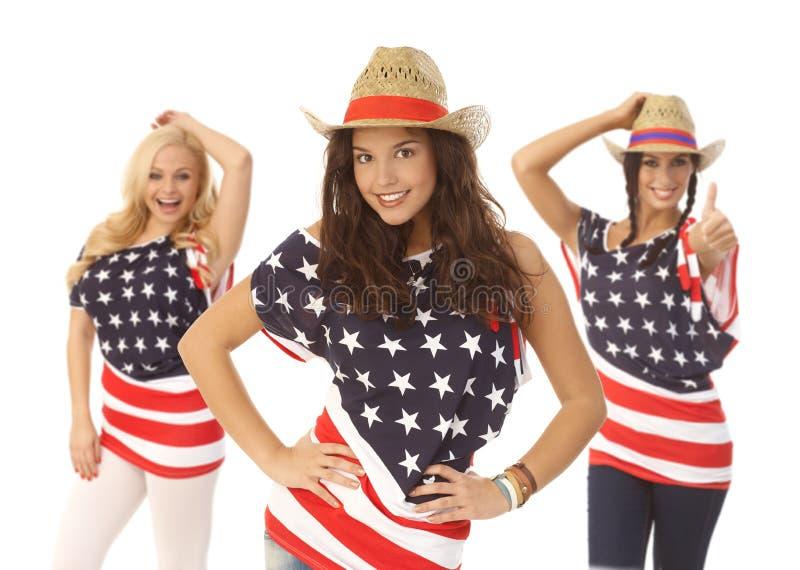 美丽的美国女孩 免版税库存照片