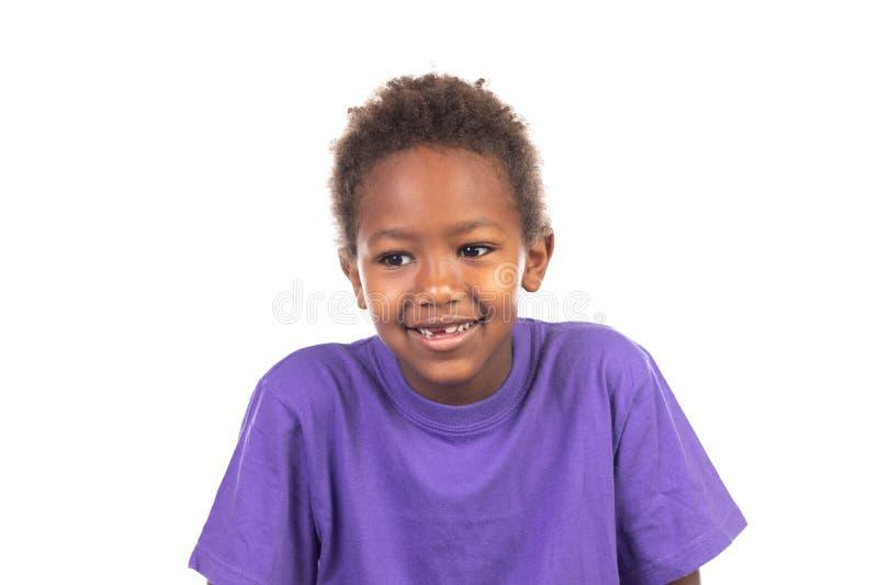 美丽的美国黑人的男孩 库存照片