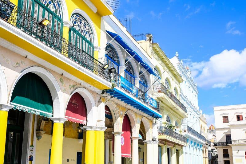 美丽的老哈瓦那 免版税库存图片
