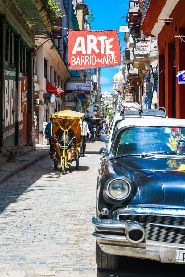 美丽的老哈瓦那 免版税库存照片