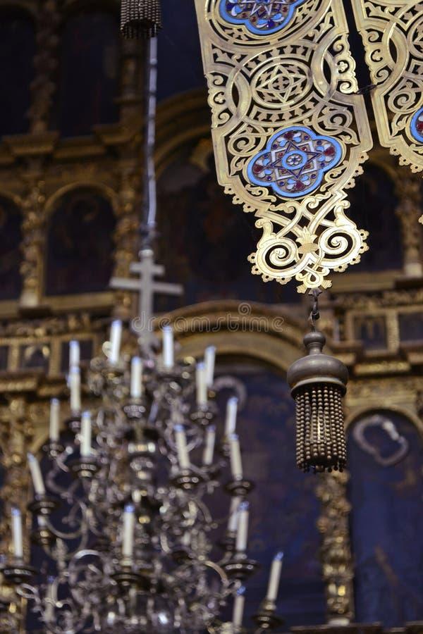美丽的老响铃在东正教里 免版税库存照片