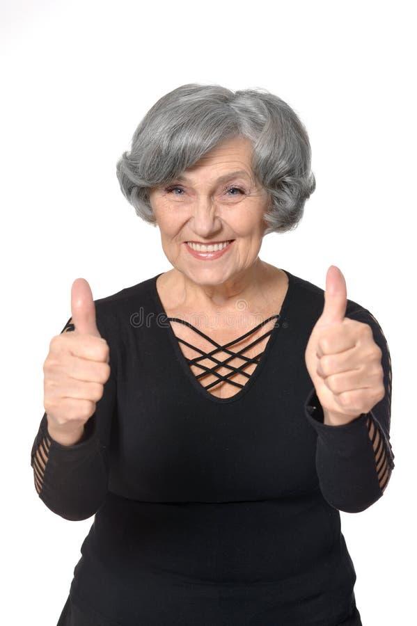 美丽的老妇人 免版税库存图片
